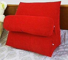 JHBJ Nachttisch Stuhl Kissen Dreieck Kissen Sofa Kissen Kissen Büro Back Pad Bett Kissen Taillenkissen ( Farbe : A , größe : 55*55*28cm )