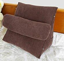 JHBJ Nachttisch Stuhl Kissen Dreieck Kissen Sofa Kissen Kissen Büro Back Pad Bett Kissen Taillenkissen ( Farbe : F , größe : 55*55*28cm )
