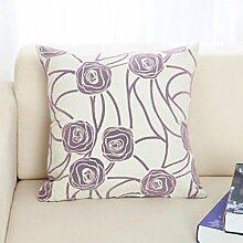 JHBJ Sofa Kissen Büro Auto Kissen Büro Bett zu erhöhen Dual-Use-Kissen Taillenkissen ( Farbe : C , größe : 52*52cm )