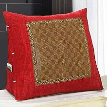 JHBJ Stereo Dreieck Kissen Rattan Sitze Bedside Kissen Bett Kissen Kissen Kissen Sofa Kissen gedämpft waschbar waschbar Taillenkissen ( Farbe : B , größe : 60*50*20cm )