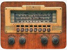 JHDF Vintage Badematte Retro Antike Antike Radio