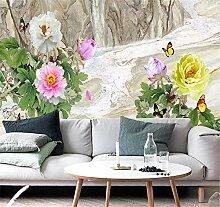 JHDGL Fototapete 3D Effekt Vlies Tapete Blumen