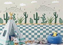 JHDGL Fototapete 3D Effekt Vlies Tapete Kaktus
