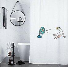 JHFVB Haartrockner Bad Duschvorhang Bad trocken