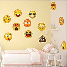 JHFVB Smiley Wanddekoration Wandaufkleber Emoji