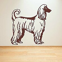JHGJHGF Afghan Hound Hund Wandkunst Aufkleber Tier