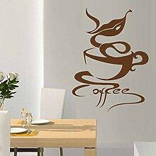 JHGJHGF Coffee Shop Aufkleber Heißgetränke