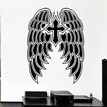 JHGJHGF Kreuz Symbol Wandtattoo Daemon Cartoon,