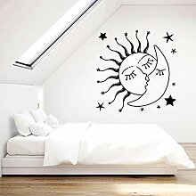 JHGJHGF Romantische Wandtattoos Sonne küsst Mond