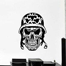 JHGJHGF Schädel Knochen Wandtattoo Soldat