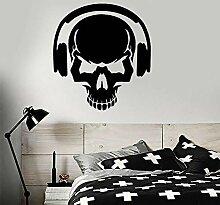 JHGJHGF Schädelknochenapplikation Musikliebhaber