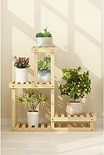 JHhuajia Blumentreppe aus Holz Blumenständer für