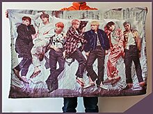 JHion BTS Bangtanboys Kuscheldecke Sofadecke (100