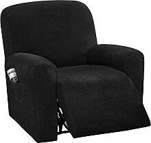 JHLD 4 Stück Samt Stretch Sesselbezug