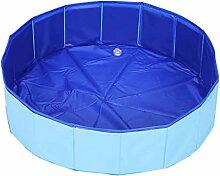 JHLD Schwimmbecken Für Hund, Zusammenklappbar PVC