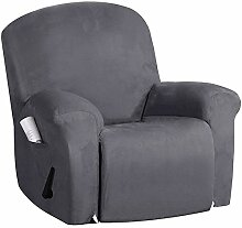 JHLD Sesselbezug Relaxsessel 4 Teilig, Weich