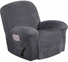 JHLD Sesselbezug Relaxsessel Samt, 4Stück Moderne