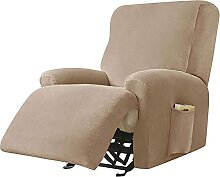 JHLD Stretch Sesselbezug Relaxsessel, Samt