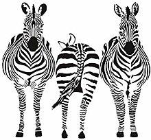 Jhping Sticker Wandbild Zebra Vinyl Wandkunst