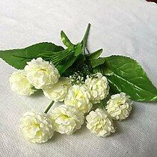 jhsajddaa Kunstblume 9 Zarten Ball Chrysantheme