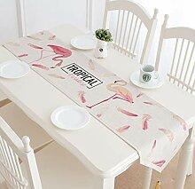 Jhtadva Cartoon Flamingo Design frischen Esstisch,