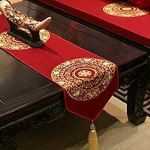 Jhtadva Chinese Classic bestickte Esstisch