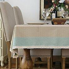 Jhxena American Style Tischdecke Ländlichen Retro Cafe Und Tee Table Cover Tuch, Blau 50 * 50 Cm