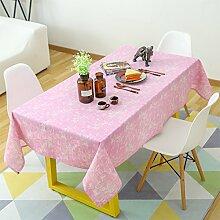 Jhxena Baumwolle Und Leinen Tischdecken Farbe Mosaik Wohnzimmer Rechteckige Tischdecke Tuch, Rot 90*90Cm