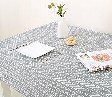 Jhxena Bettwäsche Tischdecke Moderner Esstisch Tuch Kunst Rechteckige Tischdecke, Grauen Streifen 120*160 Cm