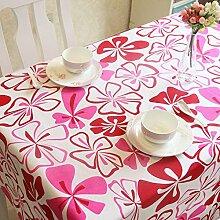 Jhxena Einfachen Stil Leinwand Tischdecke Blumenmuster Rechteckigen Tisch Decken Tuch, Rot, 100 X 100 Cm