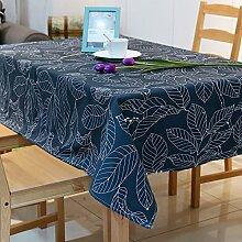 Jhxena Europäische Einfachen Stil Rechteckige Tischdecke Cafe Table Cover Tuch, Deep Blue, 140 X 240 Cm