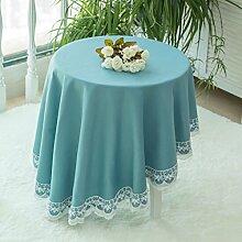 jhxena Farbe Baumwolle Und Leinen Tischdecke Runde