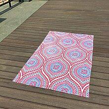 Jhxena Garten Stil Baumwolle Strandtuch Urlaub Am Meer Schal Strand Decke, Rosa