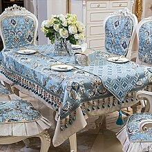 jhxena Im Europäischen Stil Tischdecke Blauen