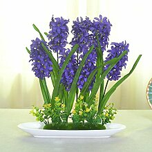 jhxena Jhxena künstliche Blume Garten Stil Kunststoff florale Kunst Hyazinthen Viole