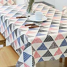 Jhxena Koreanische Moderne Tischdecke Verdicken Baumwolle Cafe Table Cover Tuch, Dreieck, 140 * 140