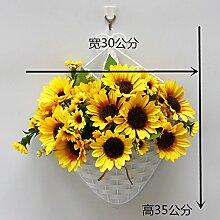 jhxena Künstliche Blumen Garten Stil an der Wand kit florale Kunst Sonnenblumen