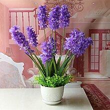 jhxena Künstliche Blumen Keramik vase Hyazinthe