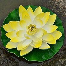 jhxena Künstliche lotus Kit pool Aquarium Dekoration 60 cm gelb