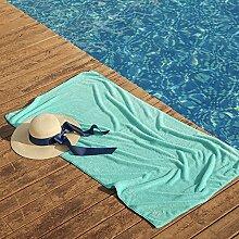 Jhxena Mikrofaser Strand Badetuch Soft Wasseraufnahme Schwimmen Handtuch Strandmatte, Grün