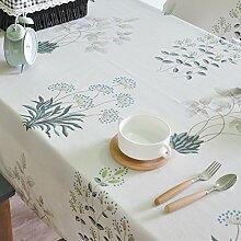 Jhxena Nordic Garten Stil Bettwäsche Tischdecke Sommer Und Herbst, Weiß 130 X 130 Cm