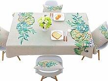 Jhxena Rechteckige Tischdecke Im Europäischen Stil Einfach Kaffee Table Cover Tuch, Lotus, 85 * 85 Cm.