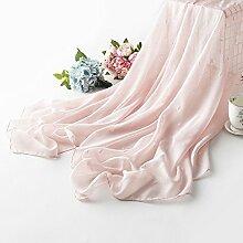 jhxena Sommer Strand Handtuch Leinen Sonnenschutz Schal Farbe Schal, Rosa