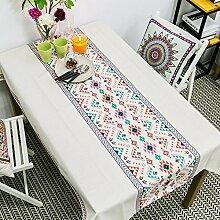 Jhxena Südosten Style Tischdecke Asiatischen Rechteckige Baumwolle Kaffee Table Cover Tuch, Böhmischen Stil, 180 * 130 Cm