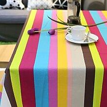 Jhxena Tischdecke Im Europäischen Stil, Bar Oder Cafe Table Cover Tuch, Cognac, 90 * 90 Cm.
