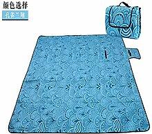 Jhxena Vier Jahreszeiten Strandmatte Outdoor Moistureproofproof Yoga Picknick Pad, Blau