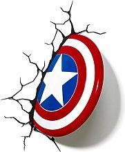 Jia He Wandlampe Tischleuchte - Captain America