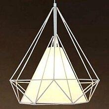JIA HONG Diamanten Birdcage Wohnzimmer Esszimmer Bar Lampe,White-50cm