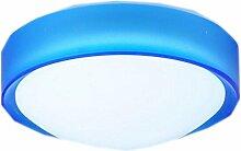 JIA HONG Moderne Einfache Balkon-Gang-Tür-runde Lampe,Blue-Trumpet25CMWhite