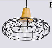 JIA HONG Restaurant Wohnzimmer Korridor Wohnzimmer Esszimmer Lampe,Black-B